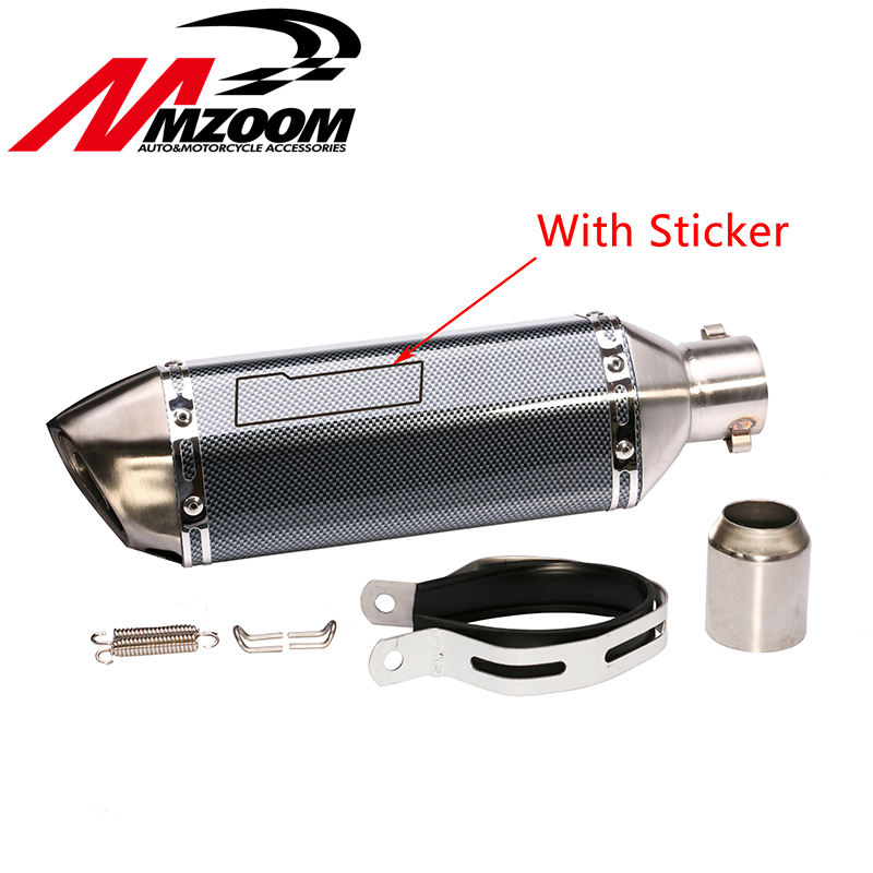 Free shipping UniversalMotorcycle exhaust Modified Scooter Exhaust Muffle GY6 for HONDA R1 R3 R6 FZ6 Z1000 GSXR600(China (Mainland))