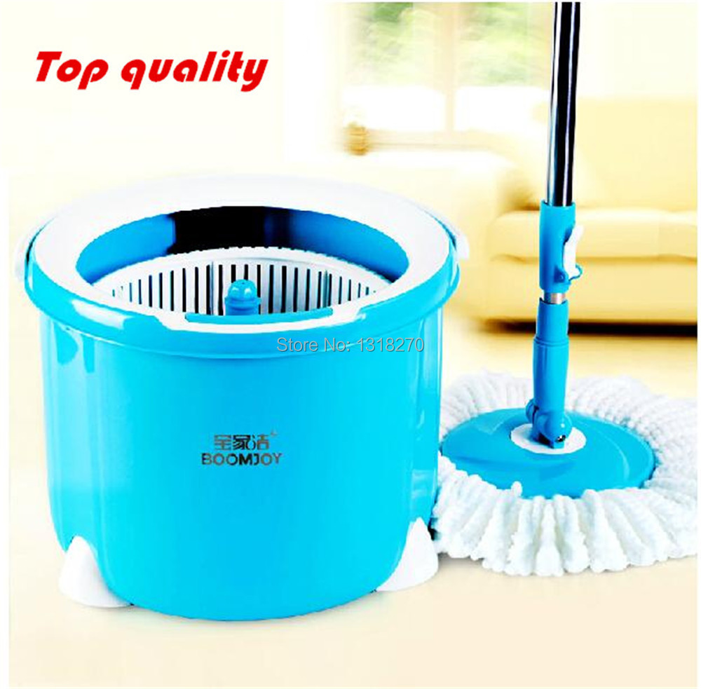 Single barrel double driven rotary mop bucket,round mop head,Dry & wet dual-purpose(China (Mainland))