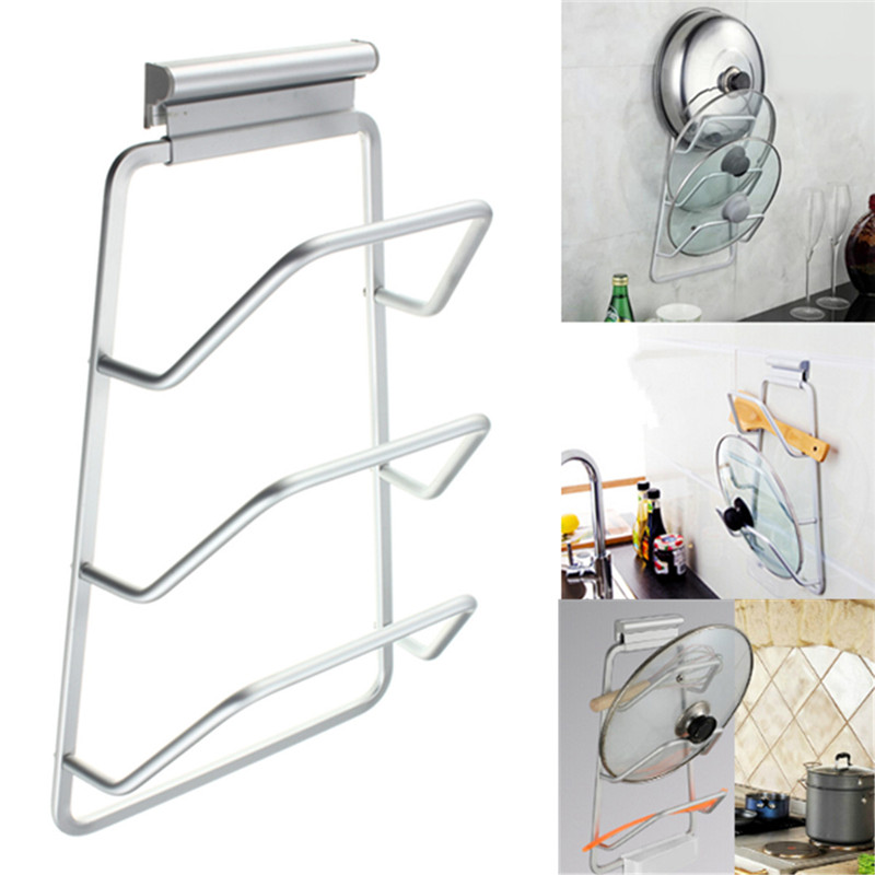 1PCS New Arrival Kitchen Space Saver Cabinet Door Pot and Pan Lid Holder Rack Organizer Storage Kitchen Cooking Tools(China (Mainland))