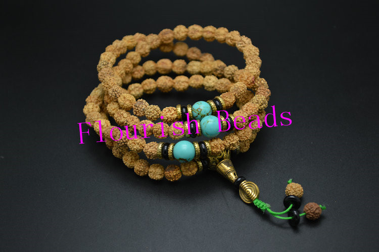Tibetan Style 108 Rudraksha Vajra Bodhi Round Wood Beads Muti Rows Man Bracelets Fit Party Gift Jewelry Free Shipping 5pc/Lot<br><br>Aliexpress