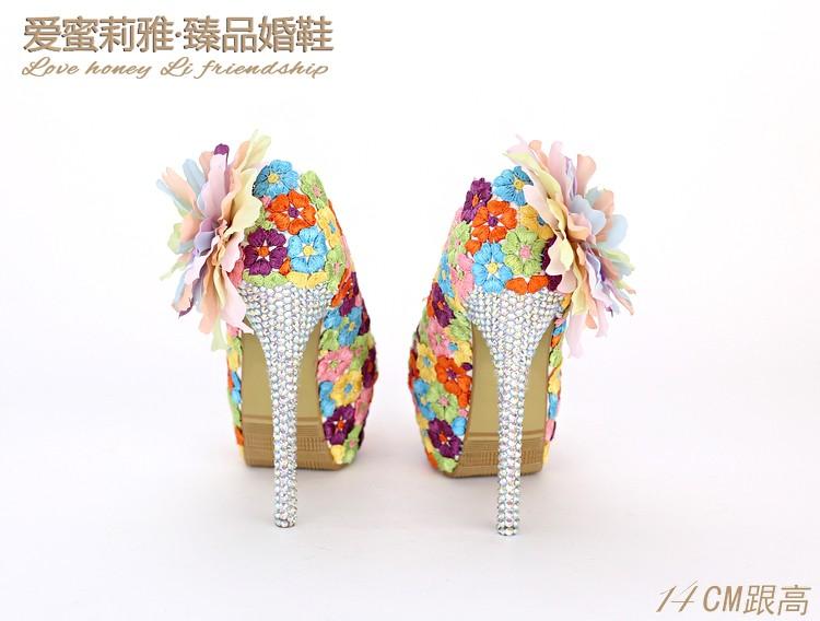 ซื้อ ผู้หญิงปั๊มA Ppliquesแต่งงานRubbeฤดูร้อนหวานรอบนิ้วเท้า
