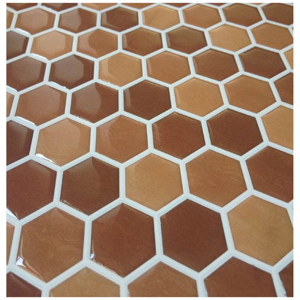 PU resin Plate Mosaic Background Wall Puzzle Mosaic Tile Adhesive Floor Tiles Mosaic Wall Tile Laminate Floor sticker(China (Mainland))