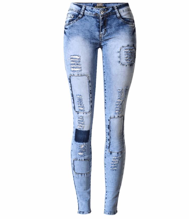 Скидки на Онлайн, чтобы купить Европейской и Американской моды улицы Рваные Джинсы карандаш Брюки женские большие ярдов длинные Брюки осенью и выиграть