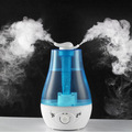 Pefeceve 3L Blue Water Bottle Air Humidifier Aroma Diffuser Ultrasonic Humidifier Mist Maker Fogger with LED