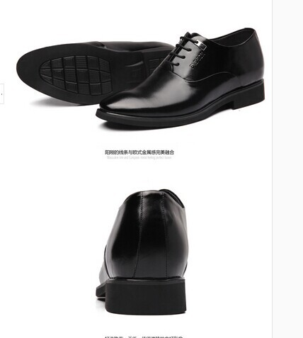 Men's 6 cm invisible elevator shoes England men's business suits leather men shoes(China (Mainland))