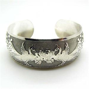 Novelty Tibetan Silver Chinese Phoenix Peony Bracelets Animal Totem Cuff Bangles man wholesale 60pcs/30Pair<br><br>Aliexpress
