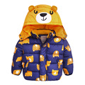 2017 New winter thick boy jacket children s clothing bear child cotton padded jacket winter outerwear