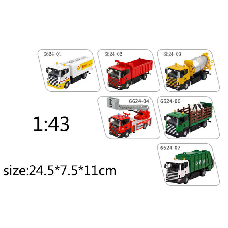 Environmental sanitation garbage truck Oil tanker Ladder truck Dumpers truck Children's toy car model(China (Mainland))