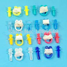 "B86""Swimming Soft Nose Clip Ear Plug Earplug Water Swim New(China (Mainland))"
