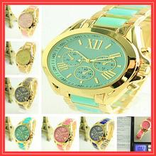Marca de lujo dorado aleación hombres mujeres Reloj relojes Mujer hombre Reloj Digital del cuarzo del diamante del Reloj de pulsera Casual Reloj de Mujer 11