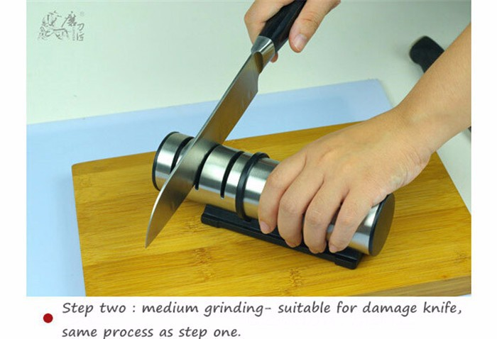 Buy professional knife sharpener diamond sharpening stone kitchen ceramic whetstone multifunction home grindstone free shipping F-91 cheap