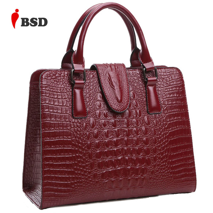 Genuine leather bag ladies 2016 crocodile pattern Women messenger bags handbags women famous brand designer high quality fashion(China (Mainland))