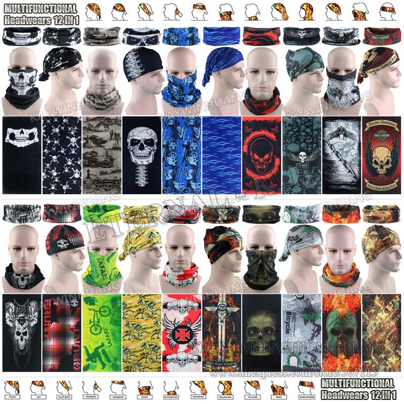 Free Shipping 100pcs/lot Wholesale New Various Men Women 25*50cm Multi Tube Headwear Seamless Microfiber Multifunctional Bandana