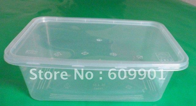 750ml rectangular disposable microwave plastic food container box with lid