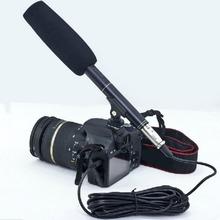 Nuevo pro 14.37 «Videocámara Cámara Entrevista Escopeta de Micrófono Micrófono para Nikon Canon Envío Libre