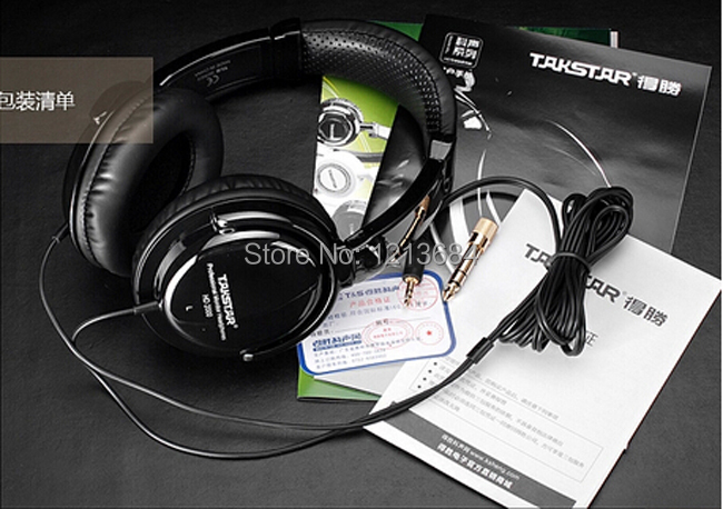 Original Takstar HD2000 Noise Isolating Bass Professional Monitor DJ Studio Recording Music Over-Ear Headset Headphone Earphones<br><br>Aliexpress
