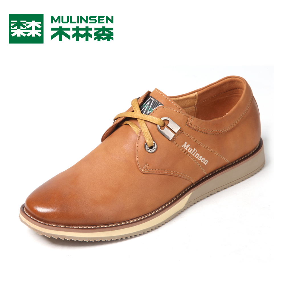 Casual shoes male leather lacing first layer of cowhide low single shoes fashion all-match male shoes