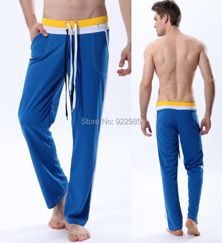 2015 band men s home wear trousers long sexy sports pants casual slack gym sport exercise