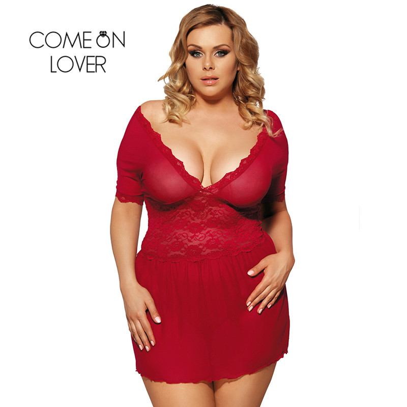 RI70335 Comeonlover See Through Sexy Lingerie Set Lace Deep V neck and V Back Langerie Sex Red Popular Style Women Sexy Lingerie