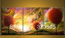 Buy 3 piece tree canvas wall art Modern abstract wall deco landscape panel artwork picture oil painting living room decoration for $50.15 in AliExpress store