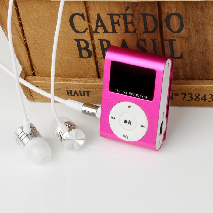 Hot marking Mini USB Clip MP3 Player LCD Screen Support 32GB Micro SD TF Card Digital Mp3 players O29(China (Mainland))