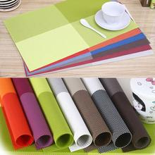 Free Shipping Table Decoration 8 Color PVC Table Placemat Kitchen Dinning Waterproof Table Cloth Pad Mat(China (Mainland))