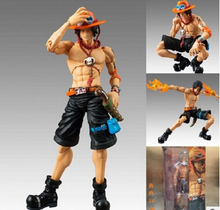 Buy Free Anime One Piece Portgas D Ace Battle Ver. Fire Fist Ace PVC Action Figure Collection Model Toy 18CM T3401 for $19.87 in AliExpress store