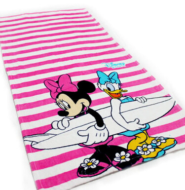 4colors Cartoon beach towel cotton bath towel travel swim Spa brand name towels for kids adults baby bathroom Textile 48X94CM(China (Mainland))