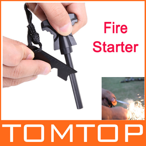 [Unbeatable At $X.99] Magnesium Stone Flint Fire Starter Kit Outdoor Survival, Free / Drop Shipping Wholesale(China (Mainland))