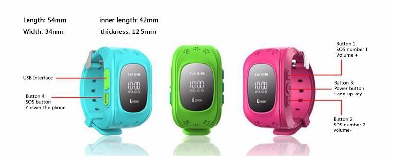 Kids Safe Smart Phone GPS children Tracker Watch Wristwatch SOS Call Location Finder Locator Monitor Baby Gift