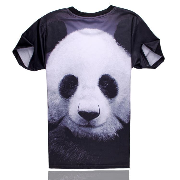 2015 summer style tshirt casual clothing short sleeve camiseta 3d t shirt animal cool Panda printed T-shirts swag clothes(China (Mainland))