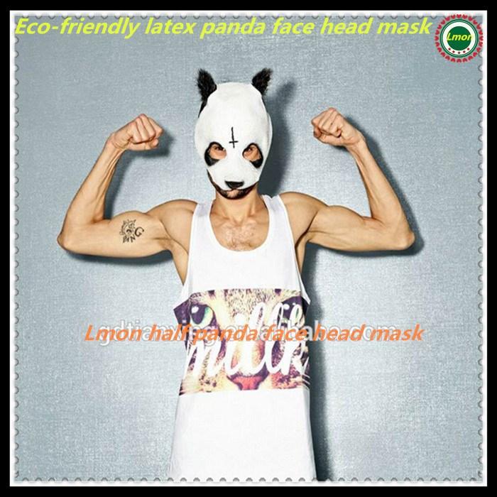 Hotsale Panda Mask Party Cospaly Halloween Costume Mask Theater Prop Novelty Latex Rubber Pandamaske CRO New Style free shipping(China (Mainland))