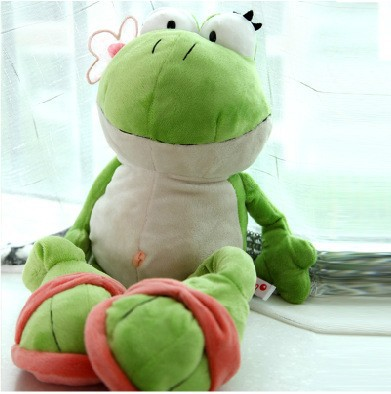 Cute 60cm Frog Soft Toys Stuffed With Plush Toys Toy Manufacturers Doll Gift for Kids Birthday Gift 1pc Free Shipping(China (Mainland))