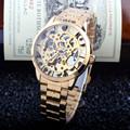 Luxury Style Men s Women Lady Unisex Automatic Mechanical Self Wind Wrist Watch Stainless Steel Skeleton