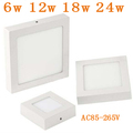 Surface mounted led downlight 6w 12w 18w 24w Square LED panel light AC85 265V Ultra thin