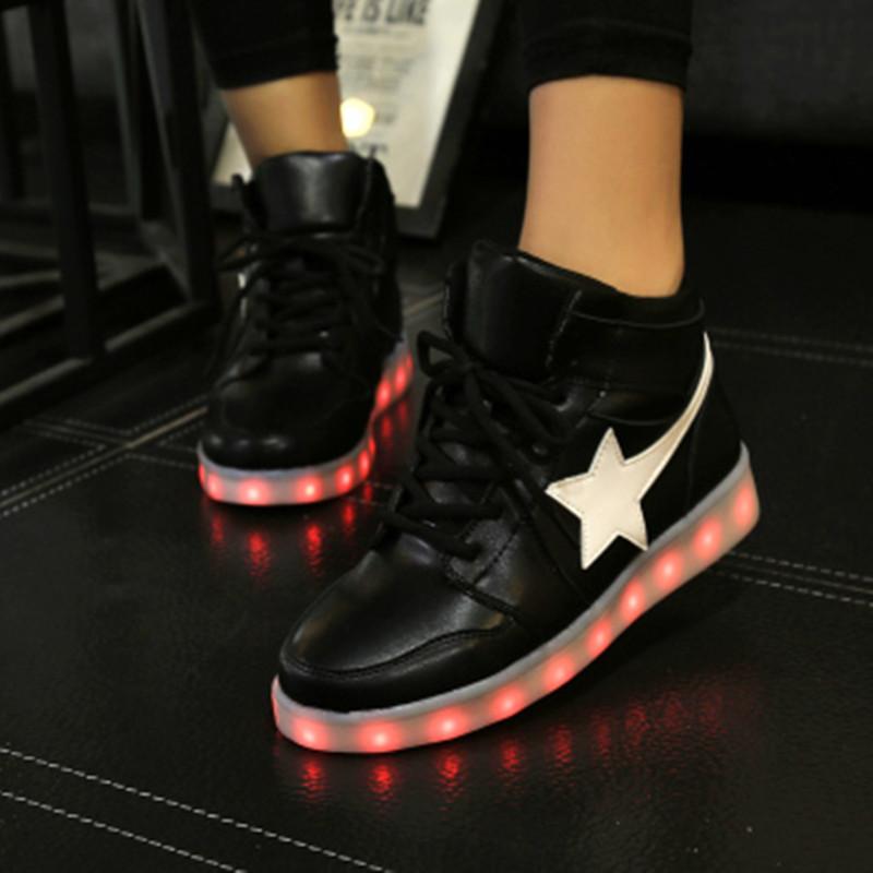 Charge led light shoes colorful luminous lovers shoes neon shoes light shoes men's shoes usb charge shoes