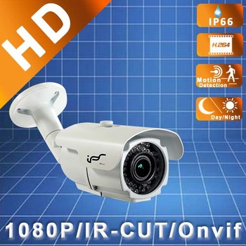 IPS 1080P Waterproof 2.8-12mm Onvif IR Outdoor HD Bullet Waterproof Network White IP Megapixel Security Cameras (IPS-HS1812L)