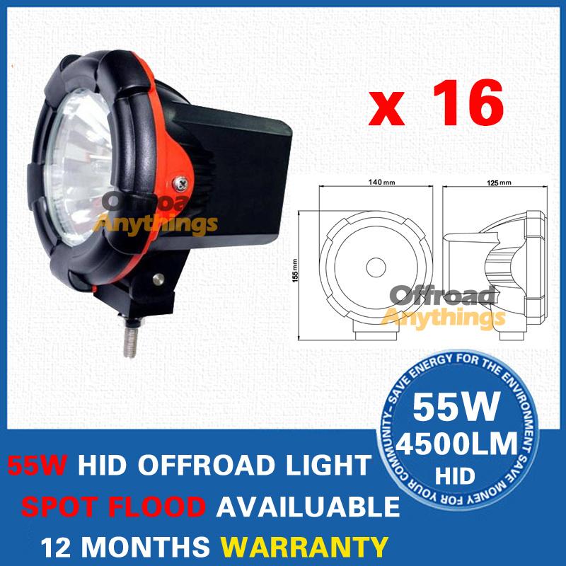 "16Pcs 12V 75W 4"" Spot Beam truck/Boat fog lamp ,hid driving light ,HID off road light,hid xenon work light(China (Mainland))"