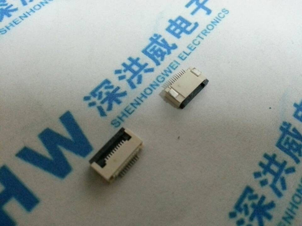 10 Pcs FPC FFC 0.5mm Pitch 10 Pin Flip Type Ribbon Flat Connector Bottom Contact(China (Mainland))
