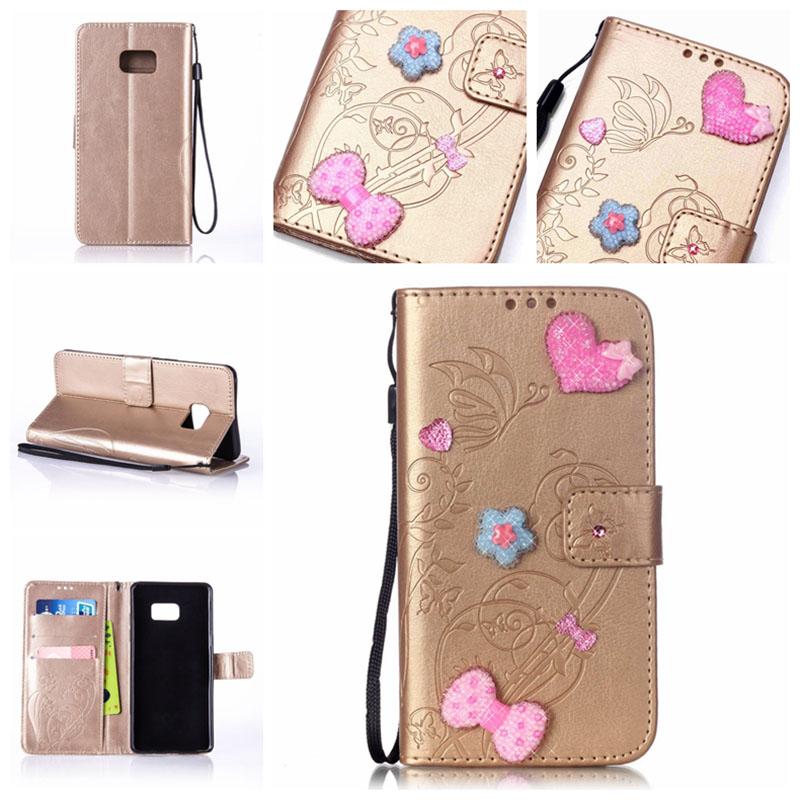 Crystal Rhinestone Case Flip Wallet Cover For Samsung Galaxy Note 4 5 7/S2 S3 S4 S5 mini S7 S6 Edge Plus/ J1 J2 J3 J5 J7 2016
