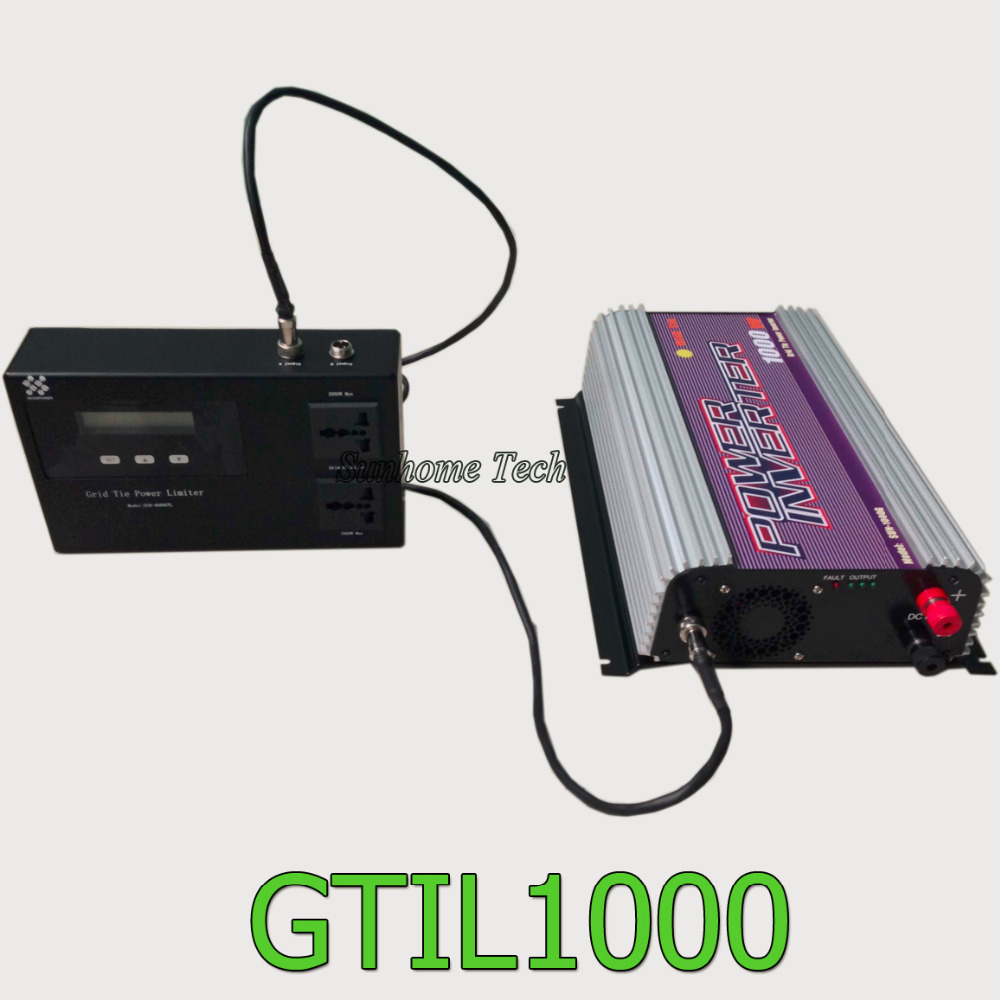1000W solar grid tie inverter with power limiter prevent extra power to grid,pure sine wave output,mppt solar grid tie inverter(China (Mainland))