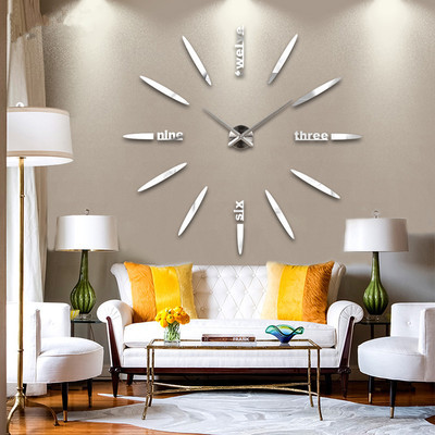 Large size living room fashion art clock wall DIY creative personality  -  GU International Trade store