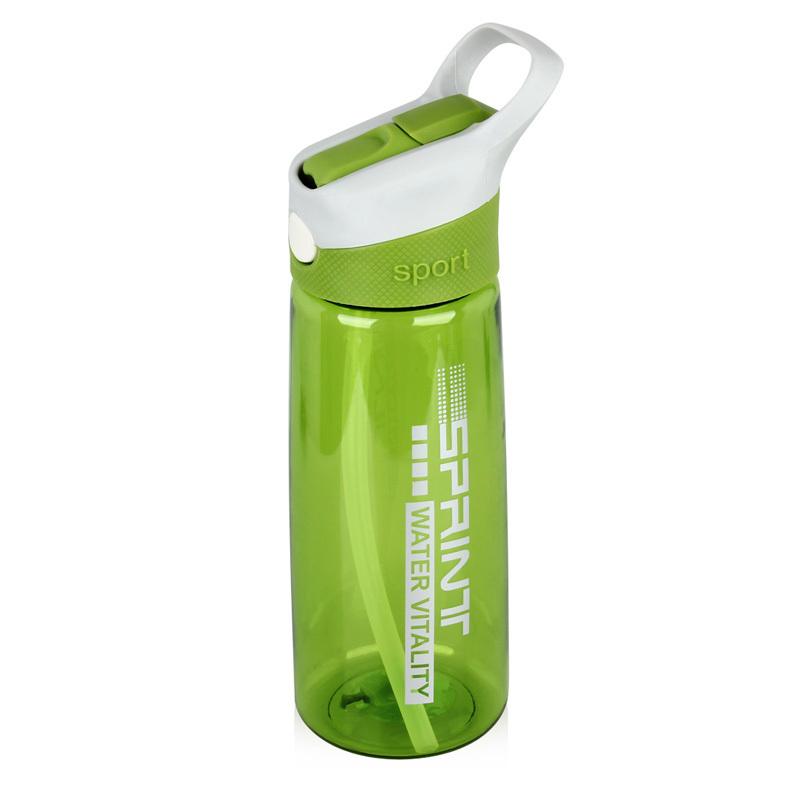 Korea Style Plastic Sport Water Bottle Plastic Tea Bottle Pressing Type Water Bottle Straw Drinking Cup BPA Free Water Bottle(China (Mainland))