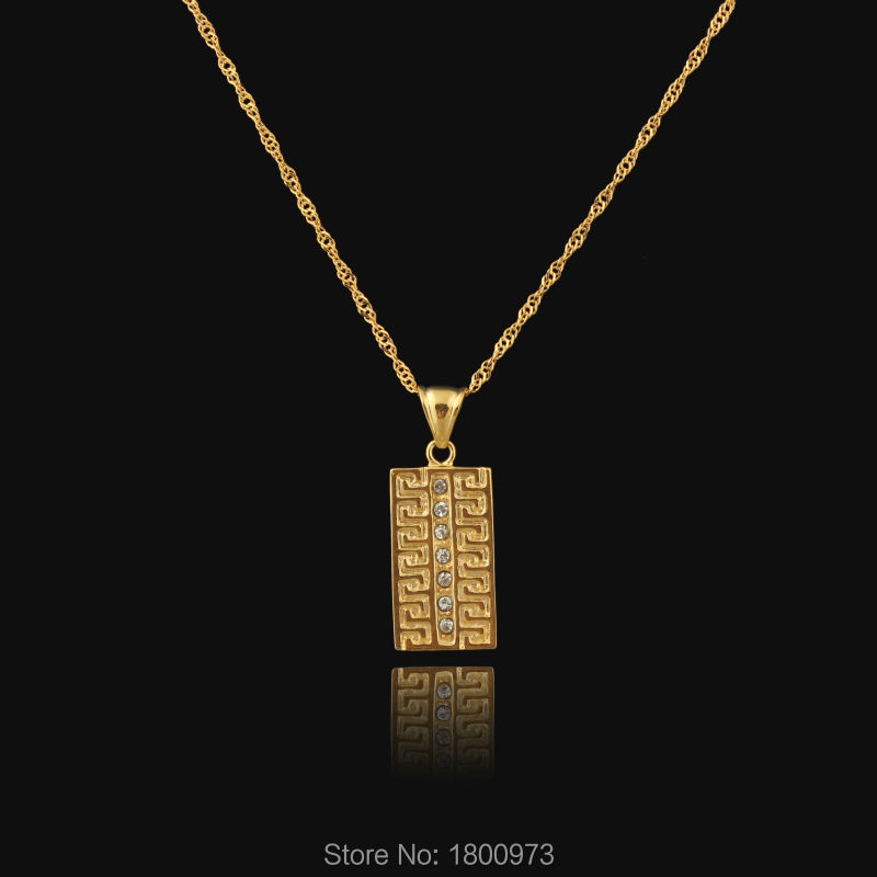 New arrival Crystal Allah Pendant Necklace 18K Real Gold Plated Unisex Muslim Jewelry Wholesale(China (Mainland))