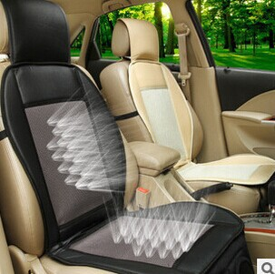 12 v car air cushion car summer cool ventilated seat cushion seat cover with fan cooler seat. Black Bedroom Furniture Sets. Home Design Ideas