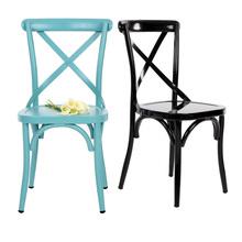 Brand IKAYAA Industrial Style Metal Kitchen Dining Breakfast Chair Stool Ergonomic Design Home Funiture US Stock(China (Mainland))