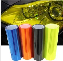 Automobile motorcycle headlight changing color film fog lamps taillights pervious to light membrane membrane 9m X 30cm