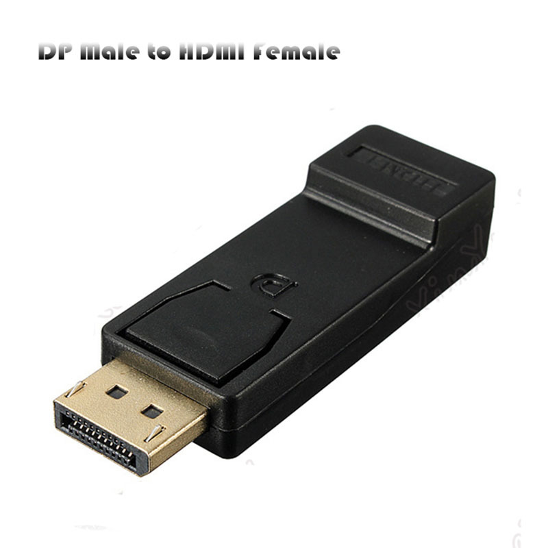 Black 1080P DisplayPort Male DP To HDMI Female M/F Adapter Converter For HDTV PC(China (Mainland))