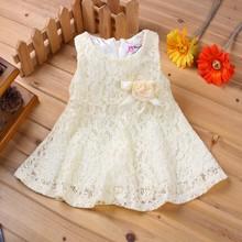 Hot!1 year birthday dress for babies princess lace 100% cotton vestido infant wedding party newborn baby girl dress 2015 summer(China (Mainland))