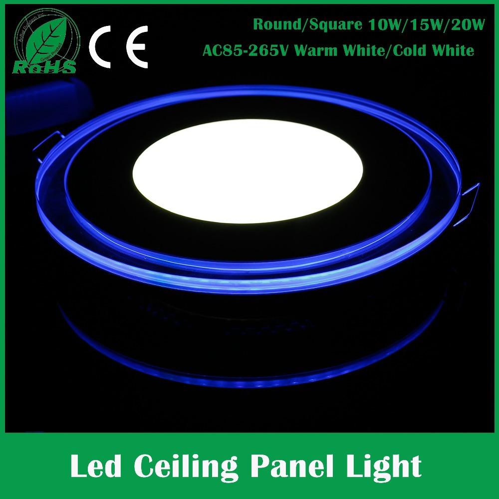 10W 15W 20W Ac85-265V Led Recessed Downlight Round Square Panel Led Light Acrylic Panel Lamp Flat Led Lamp Kitchen Light Pannel(China (Mainland))